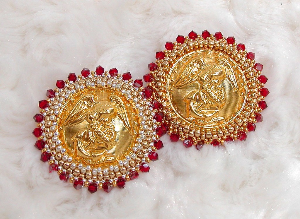 USMC Brooches. Gold & Silver with Red and Gold with Red