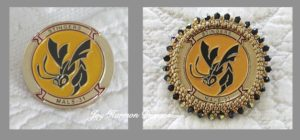Squadron Coin Brooch