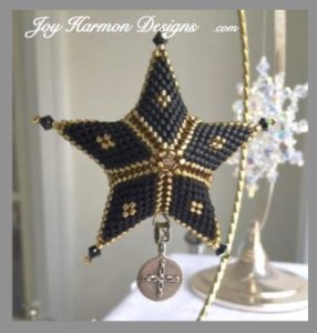 Double Star Ornament with Nomades charm. Make Your Story Tree.
